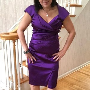 Royal Purple Satin Dress